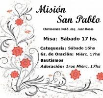 Horarios de MISIÓN SAN PABLO