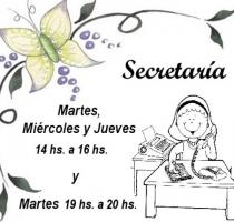 Horarios de Secretaría
